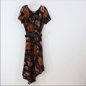 Carmen Marc Valvo Dresses - Luxe Carmen Marc midi belt dress plus 16